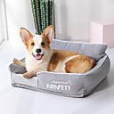 ราคาถูก ที่นอนและผ้าห่มสำหรับสุนัข-สุนัข แมว เบาะที่นอน ที่นอน ผ้าห่มเตียง ผ้าหรูหรา สัตว์เลี้ยง หมอนอิง & หมอน คลาสสิก ซักได้ สีเทา สีเขียว ฟ้า