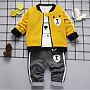 Χαμηλού Κόστους Σετ ρούχων για αγόρια-Νήπιο Αγορίστικα Βασικό Κινούμενα σχέδια Μακρυμάνικο Βαμβάκι Σετ Ρούχων Κίτρινο