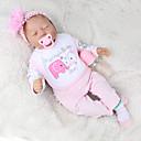 Χαμηλού Κόστους Κούκλες σαν αληθινές-NPK DOLL Κούκλες σαν αληθινές Αναγεννημένη κούκλα για μικρά παιδιά Μωρά Αγόρια Μωρά Κορίτσια 22 inch Δώρο Χαριτωμένο Παιδικά Γιούνισεξ Παιχνίδια Δώρο
