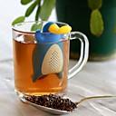 billiga Kaffe och te-återanvändbar anka platypusform silikon te sil lös blad filter drinkware te infuser tomma tepåsar köksredskap