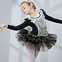 abordables Ropa de Baile para Niños-Ballet Vestidos Chica Entrenamiento / Rendimiento Licra Encaje Manga Larga Vestido