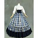 povoljno Stare svjetske nošnje-Gothic Lolita Haljine Žene Djevojčice Japanski Cosplay Kostimi Obala Vintage Kapa Rukava do lakta Do poda