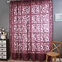 billiga Genomskinliga gardiner-Moderna Skira En panel Skira Vardagsrum   Curtains
