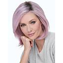 Χαμηλού Κόστους Συνθετικές περούκες χωρίς σκουφί-Συνθετικές Περούκες Ίσιο Κούρεμα καρέ Ελεύθερο μέρος Περούκα Κοντό Μωβ Συνθετικά μαλλιά 12inch Γυναικεία Μοδάτο Σχέδιο Ρυθμιζόμενο Ανθεκτικό στη Ζέστη Μωβ
