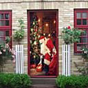 povoljno Božićni ukrasi-božićna dekoracija kreativna vrata za ukrašavanje zidna pasta - ravna zidna paste za božićne ukrase (veličina 38,5 * 200 cm * 2 komada)