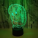 billige 3D Nattlamper-akryl pinnsvin 3d nattlys fargerike stereo nattlys kreative gaver 3d led lys