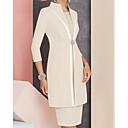 זול הלבשה תחתונה-מעטפת \ עמוד עם תכשיטים באורך  הברך סאטן שמלה לאם הכלה  עם חרוזים / פרטים מקריסטל על ידי LAN TING Express / עטיפה כלולה