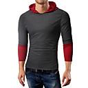 Χαμηλού Κόστους Αντρικά Κολιέ-Ανδρικά T-shirt Βασικό / Κομψό Μονόχρωμο / Συνδυασμός Χρωμάτων Ανοιχτό Γκρι