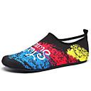 ราคาถูก รองเท้ากีฬาสำหรับผู้ชาย-สำหรับผู้ชาย Novelty Shoes ผ้ายืดหยุ่น ฤดูร้อนฤดูใบไม้ผลิ Sporty / ไม่เป็นทางการ รองเท้ากีฬา การออกกำลังกายและการฝึกอบรมข้าม / รองเท้าน้ำ ระบายอากาศ คำขวัญ สีดำและสีขาว / สีดำ / สีน้ำเงิน / สายรุ้ง