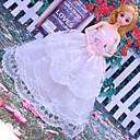 billiga Jewelry Set-Dollklänning Bröllop För Barbie Spets Spets Organza Klänning För Flicka Dockleksak