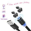 billiga Mobiltelefon kablar-blixtkabel 1.0m (3ft) normal / flätad / snabbladdning nylon / nonwoven USB-kabeladapter för ipad / samsung / huawei