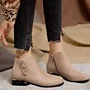 billige Mote Boots-Dame Støvler Tykk hæl Rund Tå Spenne Nappa Lær Ankelstøvler Klassisk / Britisk Høst vinter Svart / Kakifarget / Fest / aften