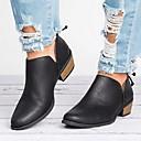 olcso Női topánkák és vászoncipők-Női Papucsok & Balerinacipők Vaskosabb sarok Kerek orrú PU Bokacsizmák Nyár Fekete / Rózsaszín / Bézs