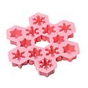povoljno Praktični poklončići-božićna snježna pahulja ledena kocka čokoladni silikonski kalup 12 šupljina 6 različitog stila