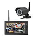 """billige DVR-Sett-trådløs 4ch quad dvr 1 kameraer pal 628x582 ntsc 510x492 med 7 """"800x480 tft-lcd monitor hjemmesikkerhetssystem pal ntsc innebygd mikrofon"""