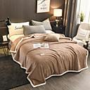 זול שמיכות וכיסויים-שמיכות מיטה / שמיכות רב תכליתיות, עיר / צבע אחיד פּוֹלִיאֶסטֶר / קטיפה חם יותר נוח סמיך