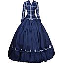 ราคาถูก เสื้อผ้าประวัติศาสตร์และวินเทจ-เจ้าหญิง Rococo Victorian หนึ่งชิ้น ชุดเดรส Party Costume เครื่องแต่งกาย สำหรับผู้หญิง ฝ้าย เครื่องแต่งกาย หมึกสีน้ำเงิน Vintage คอสเพลย์ เสื้อผ้าที่สวมไปงานเต้นรำสวมหน้ากาก พรรคและเย็น แขนยาว