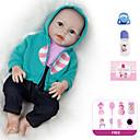 Χαμηλού Κόστους Κούκλες σαν αληθινές-Κούκλες σαν αληθινές Μωρά Κορίτσια 20 inch Σιλικόνη πλήρους σώματος - Παιδικό / Εφηβικό Παιδικά Γιούνισεξ Παιχνίδια Δώρο