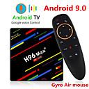 billige TV-bokser-h96 max pluss stemmekontroll smart tv-boks android 9.0 rk3328 4k mediaspiller quadcore 4 gb ram 64 gb rom android 8.1 rockchip set top box 2.4g / 5g wifi h.265 h96max + tvbox usb3.0 bt