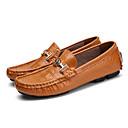 Χαμηλού Κόστους Αντρικά Αθλητικά Παπούτσια-Ανδρικά Δερμάτινα παπούτσια Δέρμα / Νάπα Leather Ανοιξη καλοκαίρι / Φθινόπωρο & Χειμώνας Βρετανικό Μοκασίνια & Ευκολόφορετα Αναπνέει Μαύρο / Καφέ / Λευκό