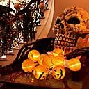 billige Halloweenprodukter-halloween gresskarstrenglys til halloween festdekorasjon med sammenleggbare 10 lykter 2m 80 tommer