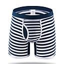 baratos Sapatos de Jazz-Homens Básico Cueca Boxer - Normal 1 Peça Cintura Média Preto Azul Azul Real M L XL