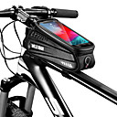 זול תיקים למסגרת האופניים-1 L Waterproof תיקים למסגרת האופניים חוץ טלפון / Iphone תיק אופניים עור PU תיק אופניים תיק אופניים רכיבה על אופניים אופנוע