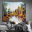 billige Wall Tapestries-Blomster Tema / Klassisk Tema Veggdekor 100% Polyester Klassisk / Moderne Veggkunst, Veggtepper Dekorasjon