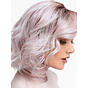 Χαμηλού Κόστους Συνθετικές περούκες χωρίς σκουφί-Συνθετικές Περούκες Κύμα Νερού Κούρεμα καρέ Περούκα Ombre Κοντό Μαύρο / Ροζ Συνθετικά μαλλιά 12inch Γυναικεία Χωρίς Οσμή Ρυθμιζόμενο Ανθεκτικό στη Ζέστη Ombre / Μαλλιά με ανταύγειες