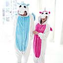 levne Kigurumi pyžama-Dospělé Pyžama Kigurumi Unicorn Pyžamo Onesie Flanel Modrá / Růžová Cosplay Pro Dámy a pánové Animal Sleepwear Karikatura Festival / Svátek Kostýmy