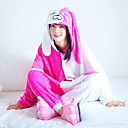 billiga Kigurumi-Vuxna Kigurumi-pyjamas Tecknat Onesie-pyjamas Flanell Röd Cosplay För Herr och Dam Pyjamas med djur Tecknad serie Festival / högtid Kostymer