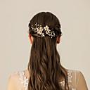 Χαμηλού Κόστους Γαμήλιες Εσάρπες-Απομίμηση Μαργαριταριού / Κράμα Μαντήλι / Hair Stick με Φλοράλ / Μέταλλο 1pc Γάμου / Πάρτι / Βράδυ Headpiece