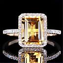 povoljno Prstenje-Žene Prilagodljivi prsten Kubični Zirconia 1pc Srebro Glina Jedinstven dizajn Europska pomodan Dar Dnevno Jewelry Cvjetni Tema Slatko