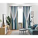 billige Gardiner-to paneler koreansk stil frisk stil uthulet stjerner blendingsgardiner stue soverom barnerom gardiner