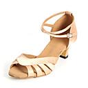 povoljno Cipele za latino plesove-Žene Plesne cipele Sintetika Cipele za latino plesove Štikle Kubanska potpetica Moguće personalizirati Crn / Nude / purpurna boja