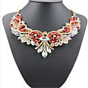 povoljno Komplet nakita-Žene Bijela Kubični Zirconia Ogrlica Geometrijski Cvijet Moda Krom Obala Crvena 45+5 cm Ogrlice Jewelry 1pc Za Praznik