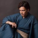 povoljno Etnički i kulturni kostime-Odrasli Muškarci Kimonima Izgledi Kimono Jinbei Za Halloween Dnevni Nosite Festival Pamuk Kimono Dlaka Remen / Bade-mantil