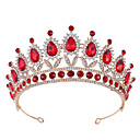 cheap Party Headpieces-Crystal / Alloy Tiaras with Crystal / Rhinestone / Metal 1 pc Wedding Headpiece