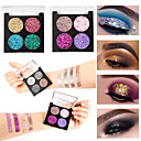 billige Innrammet kunst-firfarget formet løkpulver vanntett slitesterke paljetter makeup makeup kosmetikk