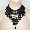 cheap Necklaces-Women's Black Choker Necklace Necklace Classic Skull Statement Vintage Punk Trendy Resin Chrome Black 42 cm Necklace Jewelry 1pc For Halloween Club