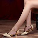 povoljno Obuća za dvoranski ples i moderne plesove-Žene Plesne cipele Koža Moderna obuća Štikle Debela peta Moguće personalizirati Crn / Silver Gray / purpurna boja / Seksi blagdanski kostimi