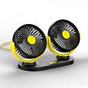 baratos Luzes de freio-carro mini ventilador 12 v / 24 v elétrico cabeça dupla interface usb ventilador