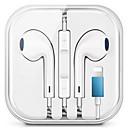 Χαμηλού Κόστους Ενσύρματα ακουστικά-ενσύρματο στερεοφωνικό ακουστικό για το iphone 7 8 plus x xr xs max ακουστικά με μικρόφωνο και καλώδιο ελέγχου ήχου