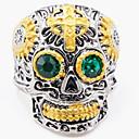 Χαμηλού Κόστους Ανδρικά Φορετά & Μοκασίνια-Ανδρικά Δαχτυλίδι 1pc Χρυσό Προσομειωμένο διαμάντι Κράμα Ακανόνιστο Βίντατζ Πανκ Μοντέρνο Καθημερινά Κοσμήματα Πεπαλαιωμένο Στυλ Cruce Κρανίο