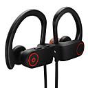 baratos Fones de ouvido esportivos-LITBest U8 Fone de ouvido com pescoço Sem Fio Esporte e Fitness Bluetooth 5.0 Estéreo IPX7 à prova d'água