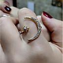 billiga Modeörhängen-Dam Ring 1st Guld Silver Rosguld Koppar Cirkelrunda Vintage Grundläggande Mode Bröllop Smycken MOON Stjärna Vackert