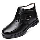 povoljno Muške čizme-Muškarci Udobne cipele Koža Zima Klasik / Ležerne prilike Čizme Ugrijati Čizme gležnjače / do gležnja Crn / Braon