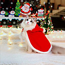 olcso Pet karácsonyi jelmezek-Rágcsálók Kutyák Macskák Karácsony Tél Kutyaruházat Piros Karácsony Jelmez Shih Tzu csivava Miniatűr uszkár Anyag Egyszínű Karácsony Mindszentek napja S M L