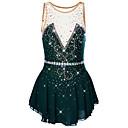Χαμηλού Κόστους Παιδικά Ρούχα Χορού-21Grams Φόρεμα για φιγούρες πατινάζ Γυναικεία Κοριτσίστικα Patinaj Φορέματα Βαθύ πράσινο Ροζ Γιαν Βιολετί Spandex Ελαστικό Νήμα Υψηλή Ελαστικότητα Επαγγελματική Ανταγωνισμός Ενδυμασία πατινάζ