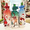 povoljno Pribor za piće-kreativni božićni boca s crvenim vinom božićna večera set santa claus snowman jelena boca pokriva odjeću božićna poklon vrećica